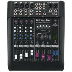 Mixer audio 6 canale (2mono+4stereo) cu amplificare PMX-350DSP