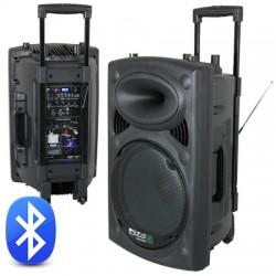 Boxa portabila cu acumulator 15 inch 800W 12/230V USB/MP3 /BT Ibiza